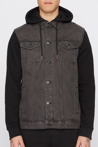 West49 Mens Half Denim Jacket