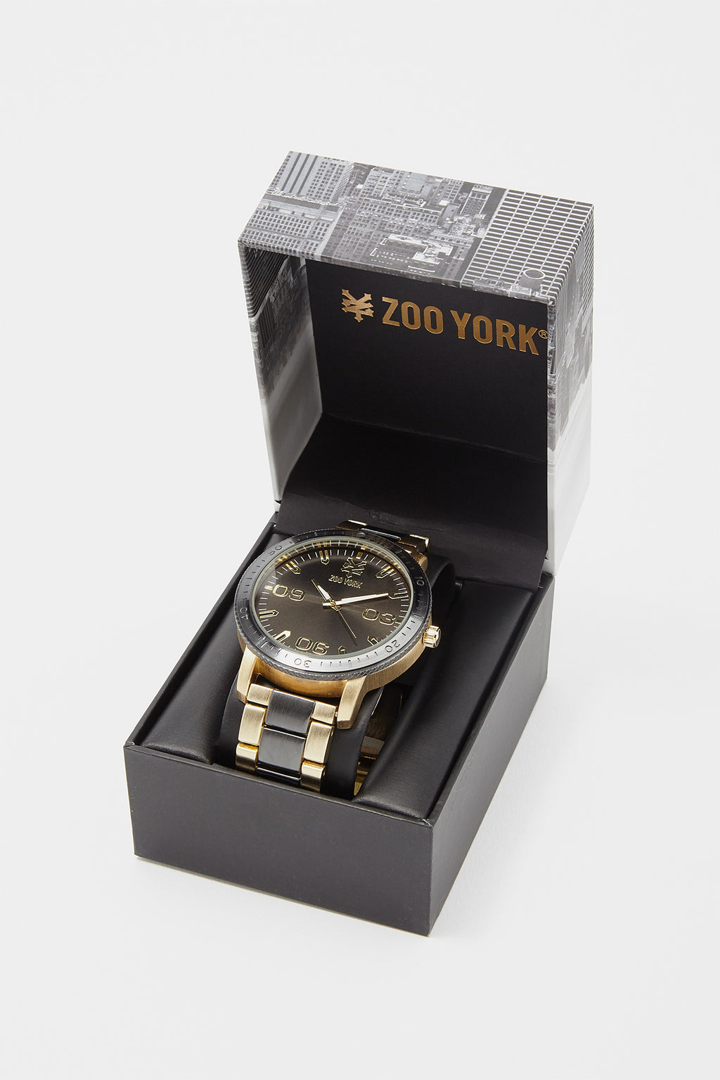 Zoo York Mens Gunmetal Gold Watch