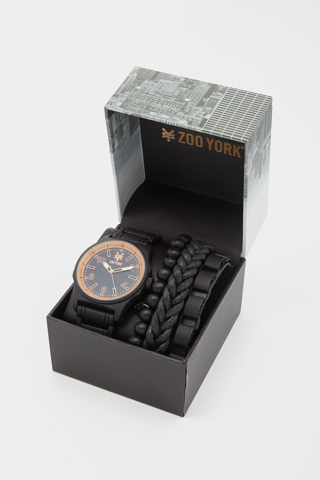 Zoo York Mens Faux Leather Watch