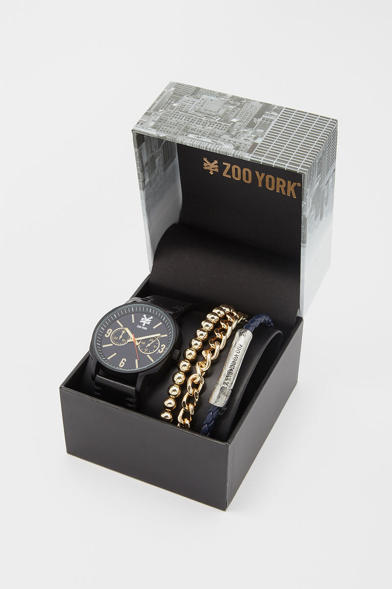 Zoo York Mens Faux-Leather Watch