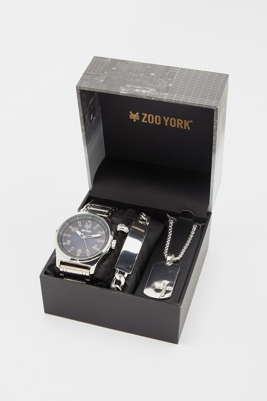 Zoo York Silver Watch Bracelet Set