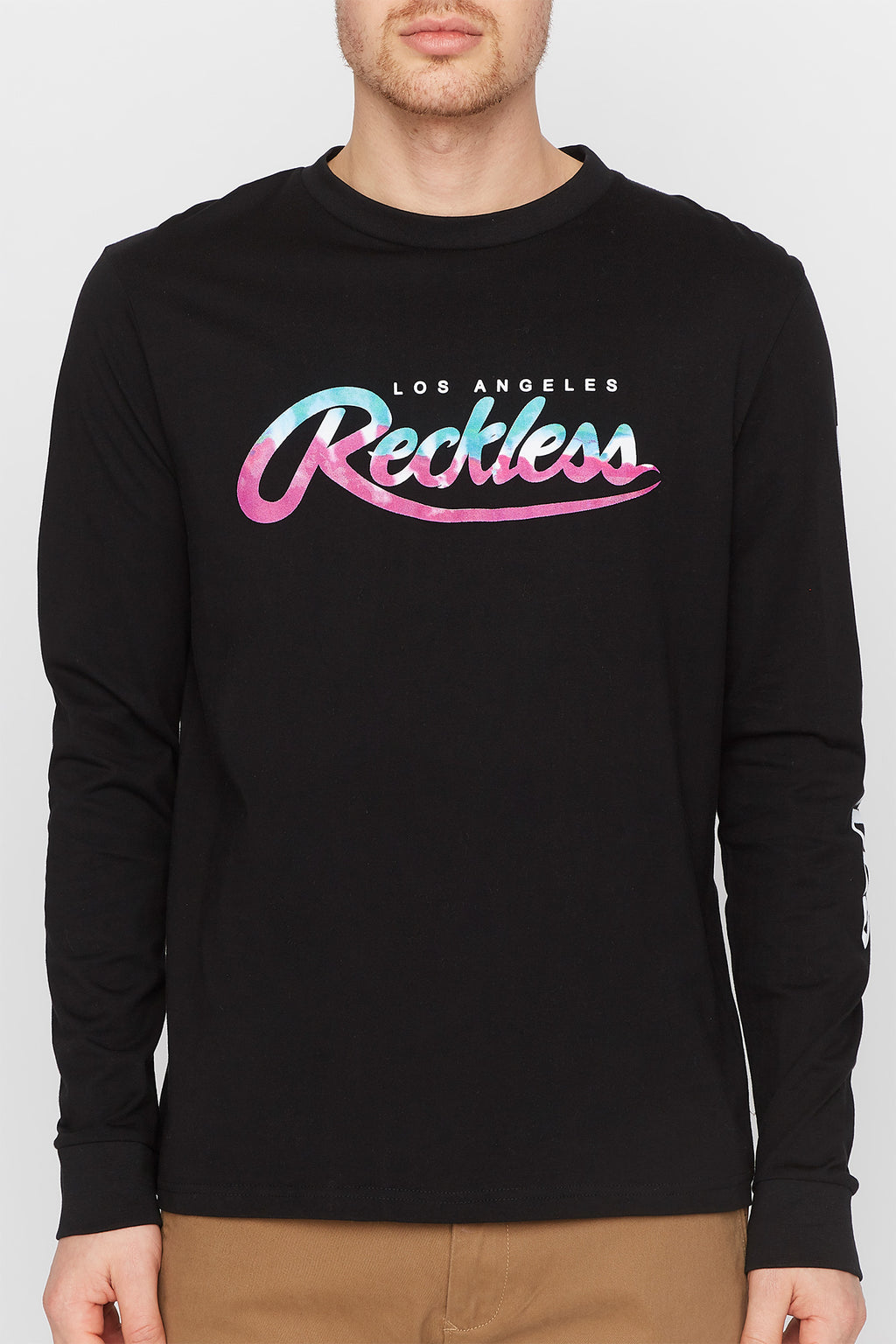 Young & Reckless Mens Tie Dye Logo Long Sleeve
