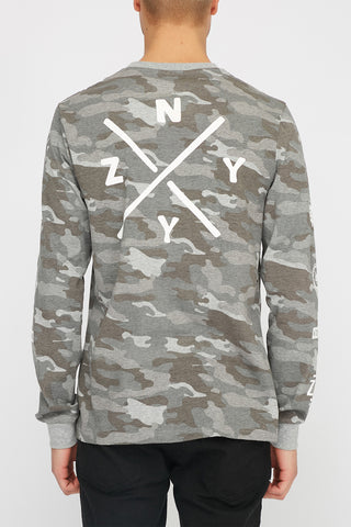 Zoo York Mens Camo Long Sleeve