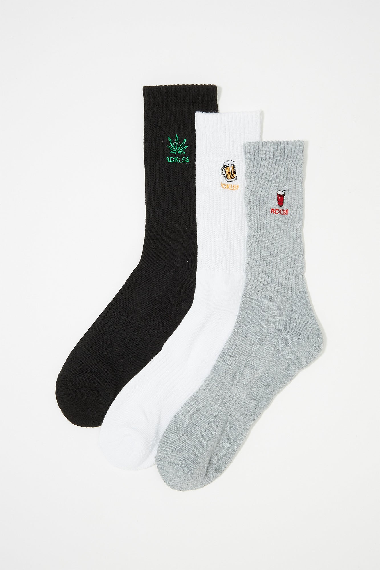 Young & Reckless Mens Crew Socks (3 Pairs)