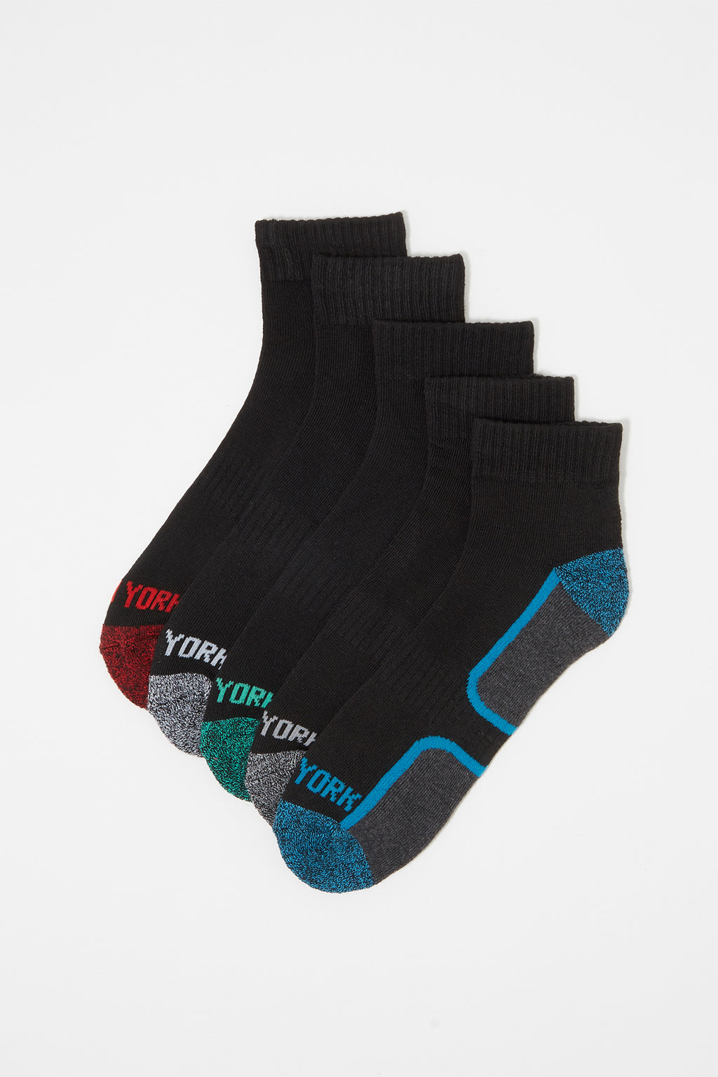 Zoo York Mens Athletic Quarter Socks (5 Pairs)