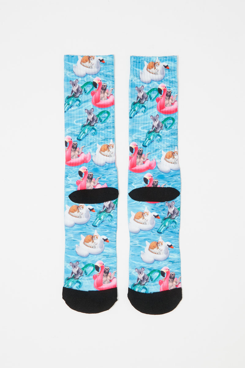 Zoo York Mens Graphic Crew Socks