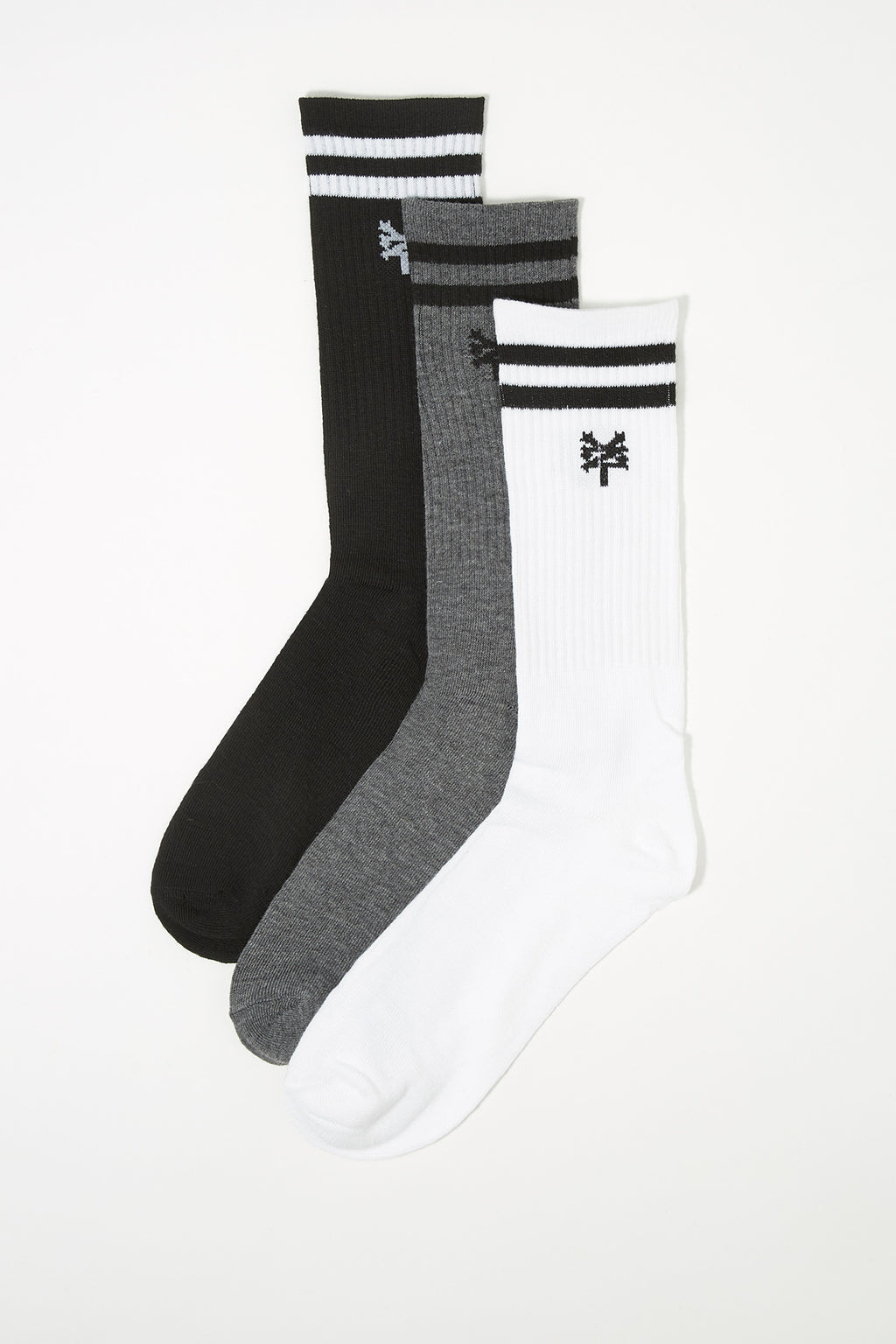 Zoo York Mens 3-Pack Crew Socks