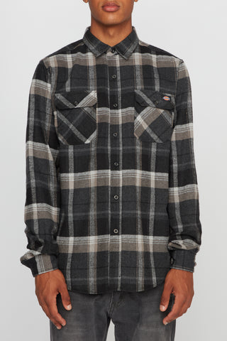 Dickies Mens 2 Pocket Plaid Shirt