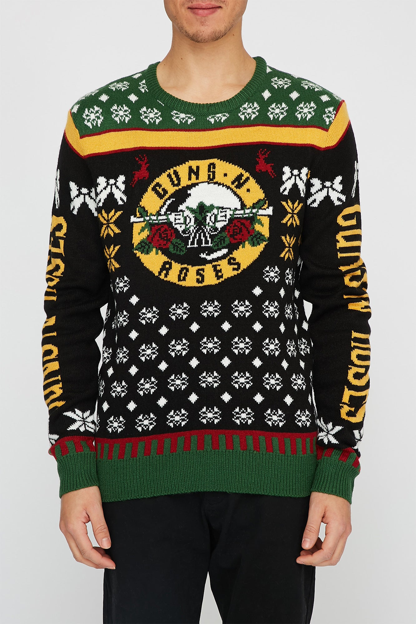 Band Ugly Christmas Sweaters.Mens Guns N Roses Ugly Christmas Sweater