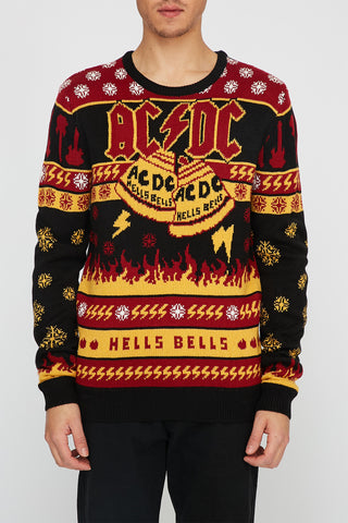Mens ACDC Ugly Christmas Sweater