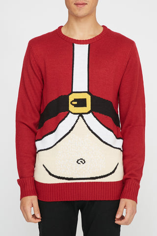 West49 Mens Santa Belly Sweater