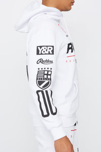 Young & Reckless Mens Solid Racing Hoodie