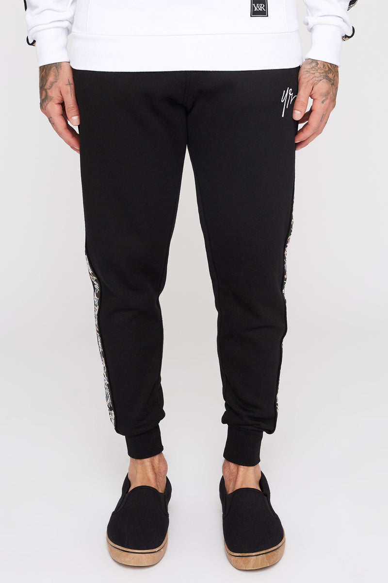Young & Reckless Mens Camo Side Tape Joggers