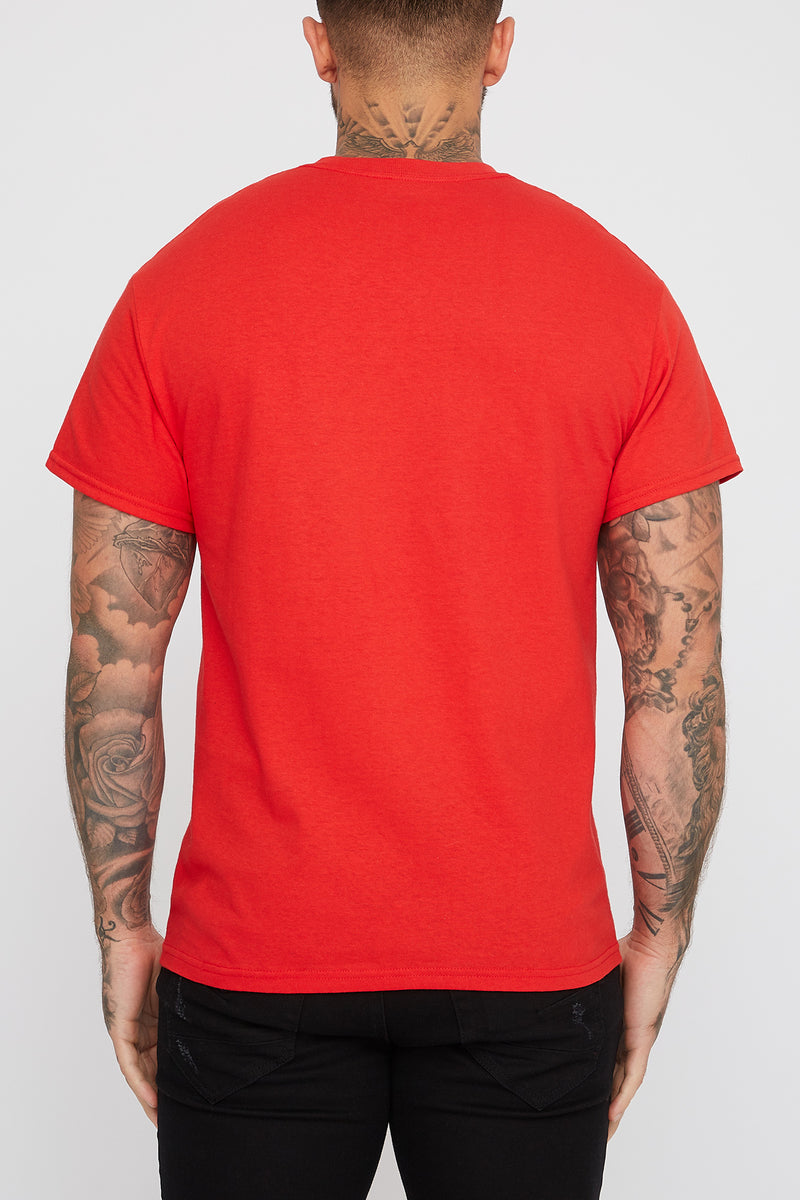 Toronto Raptors Mens Red Logo T-Shirt