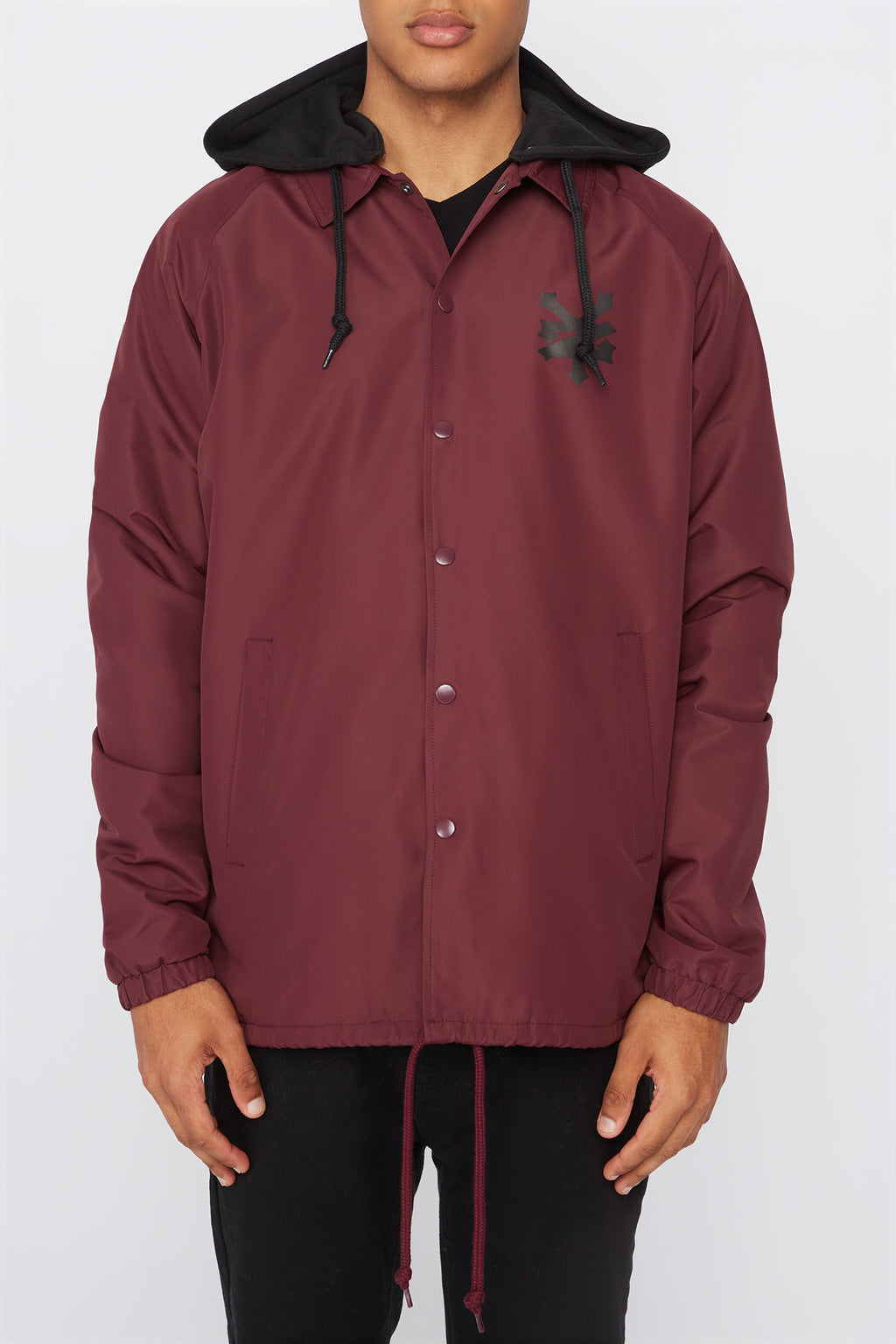 Zoo York Mens Contrast Hood Coach Jacket