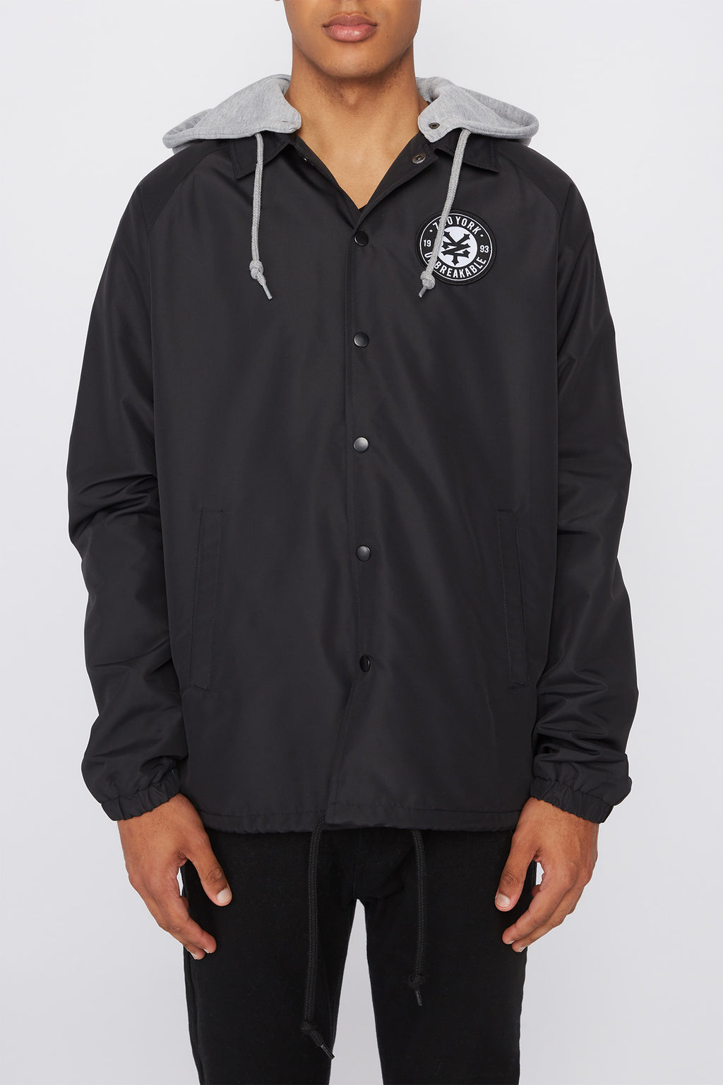 Zoo York Mens Logo Patch Coach Jacket