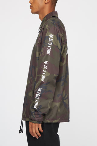 Zoo York Mens Camo Coach Jacket
