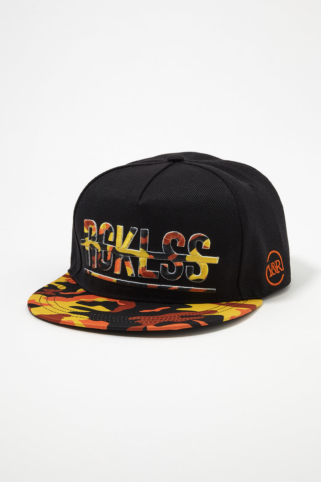 Young & Reckless Mens Camo Logo Snap Back Hat