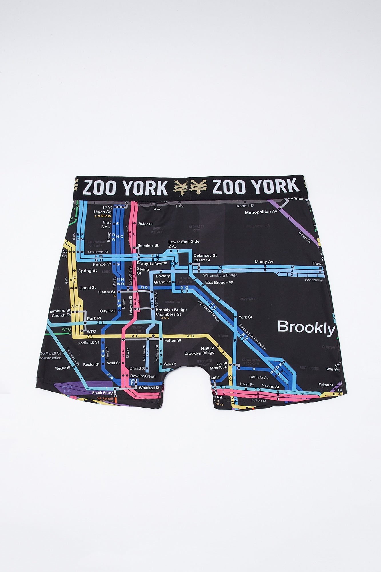 Zoo York Guys Subway Map Boxer Brief