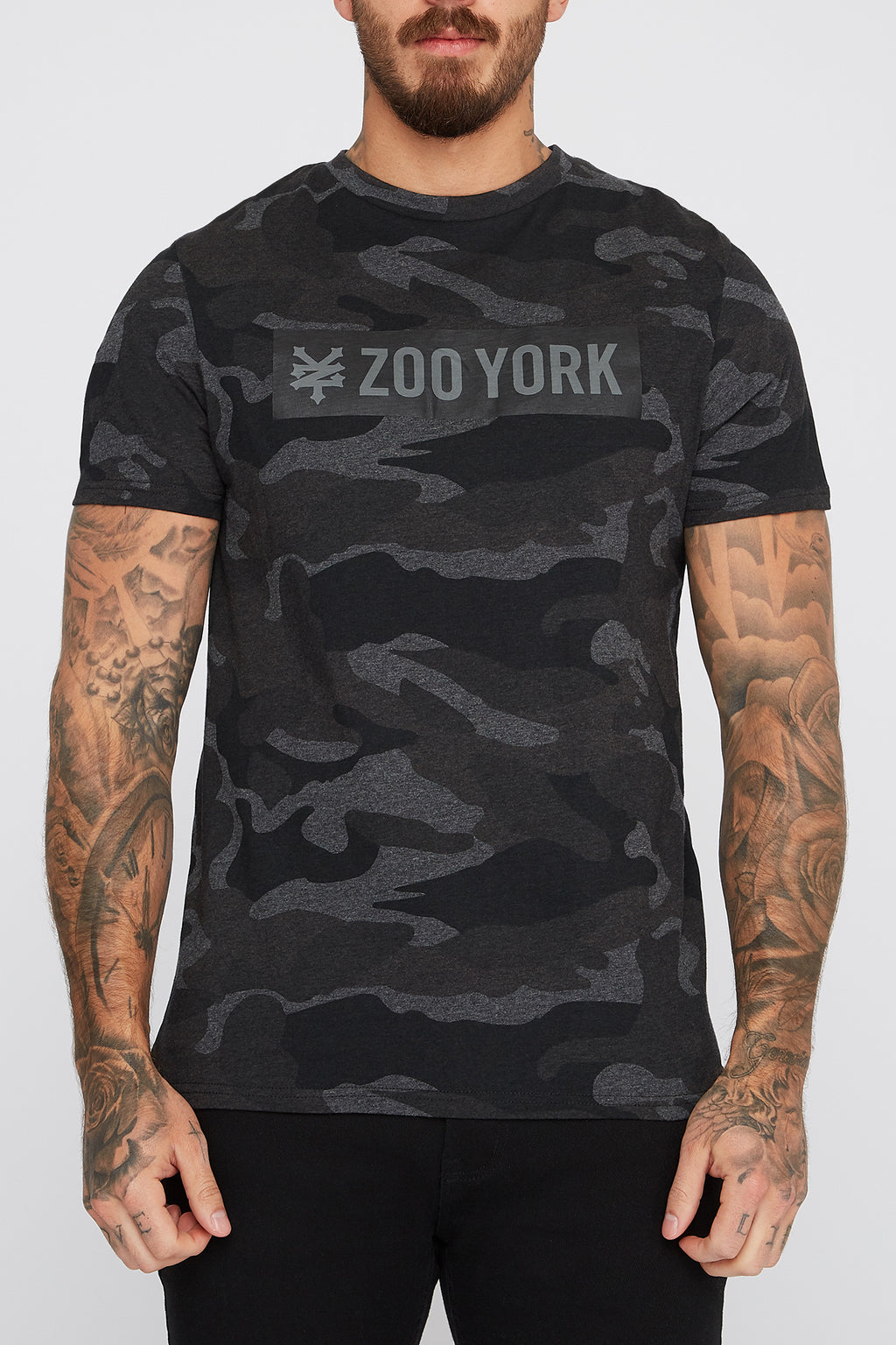 Zoo York Mens Camo Box Logo T-Shirt