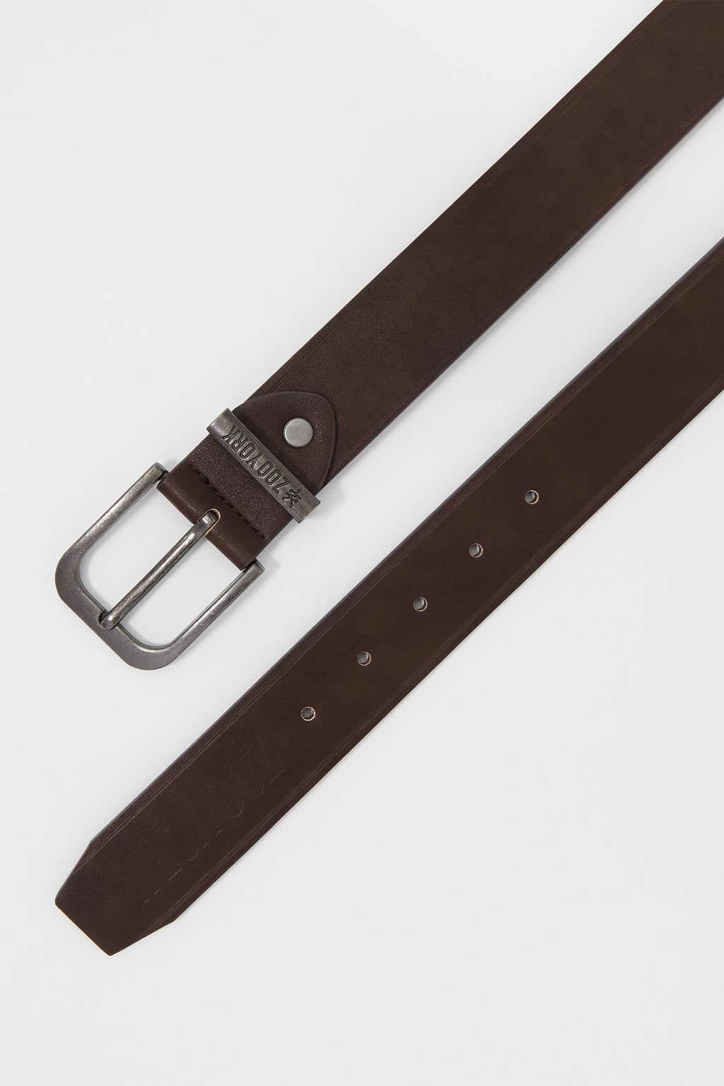 Zoo York Mens Basic Solid Brown Belt