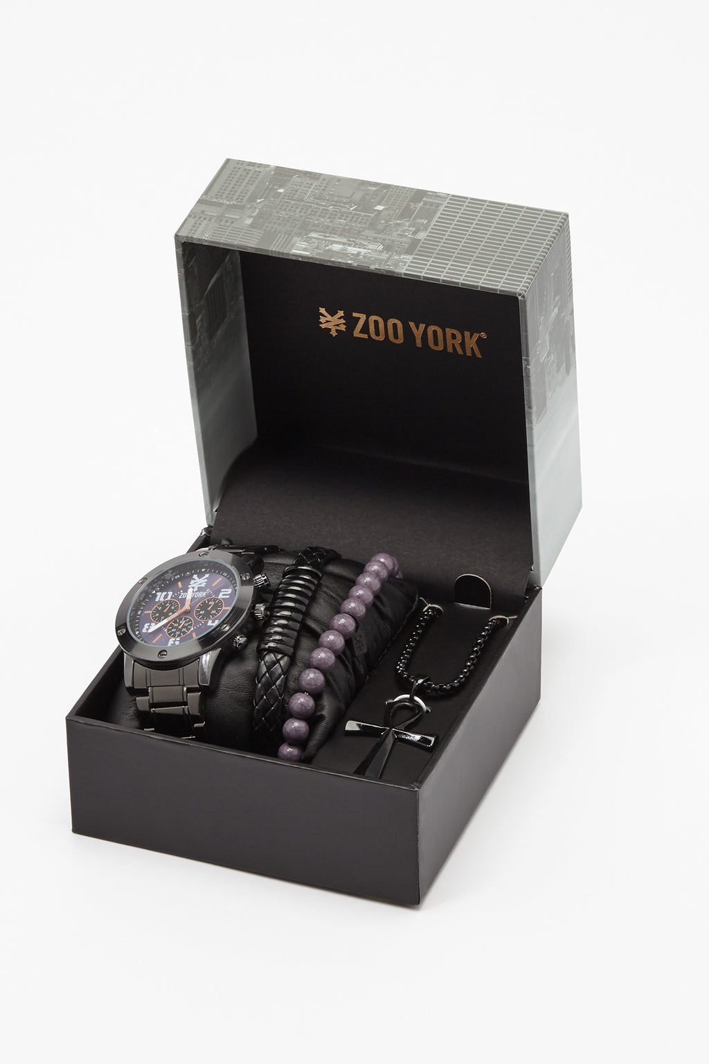 Zoo York Mens Black And Purple Watch