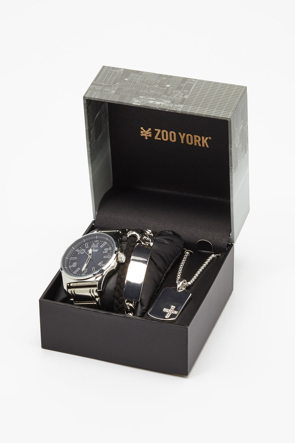 Zoo York Mens Silver-Tone Watch