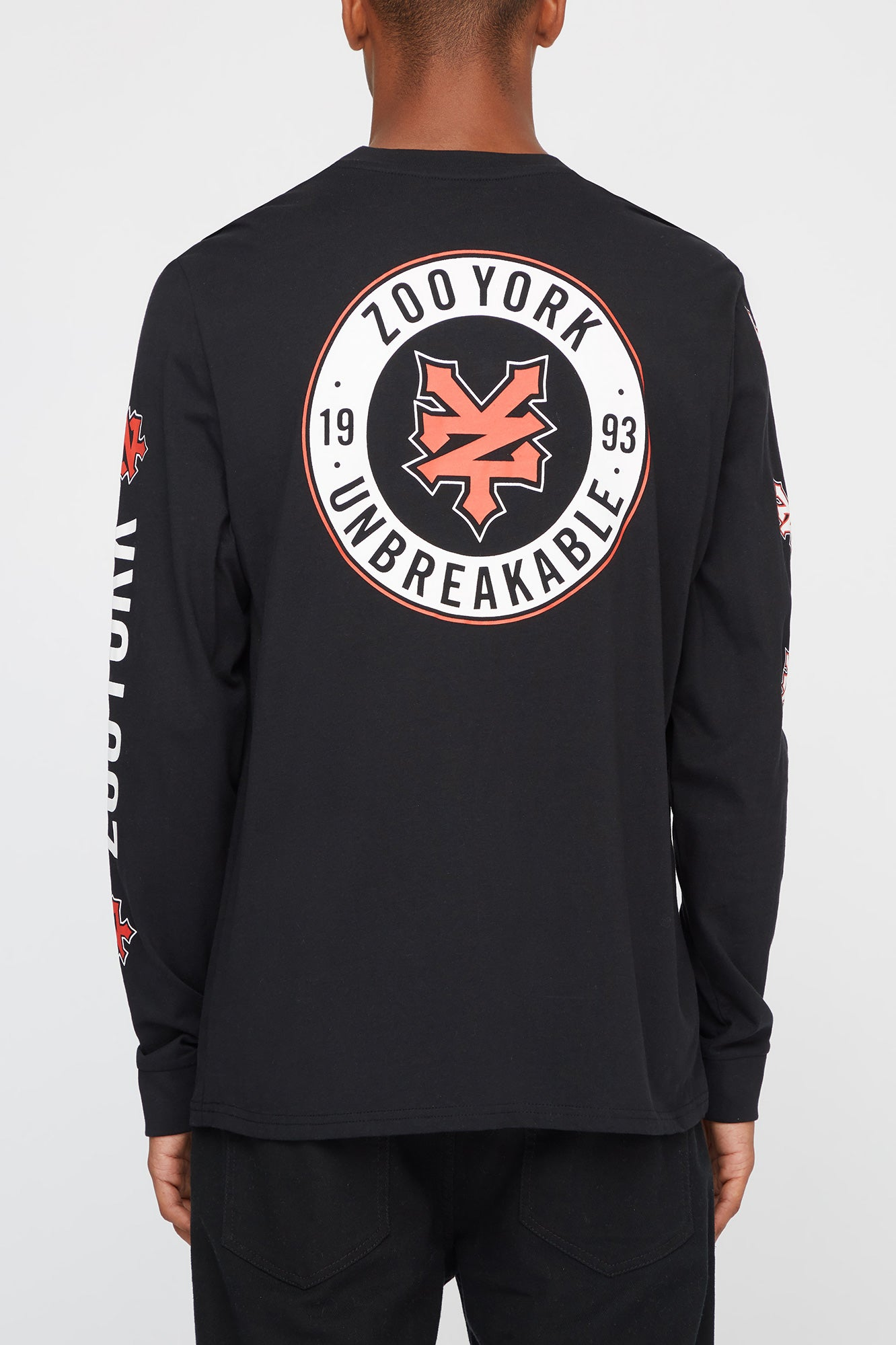 Zoo York Mens Long Sleeve Logo Tee