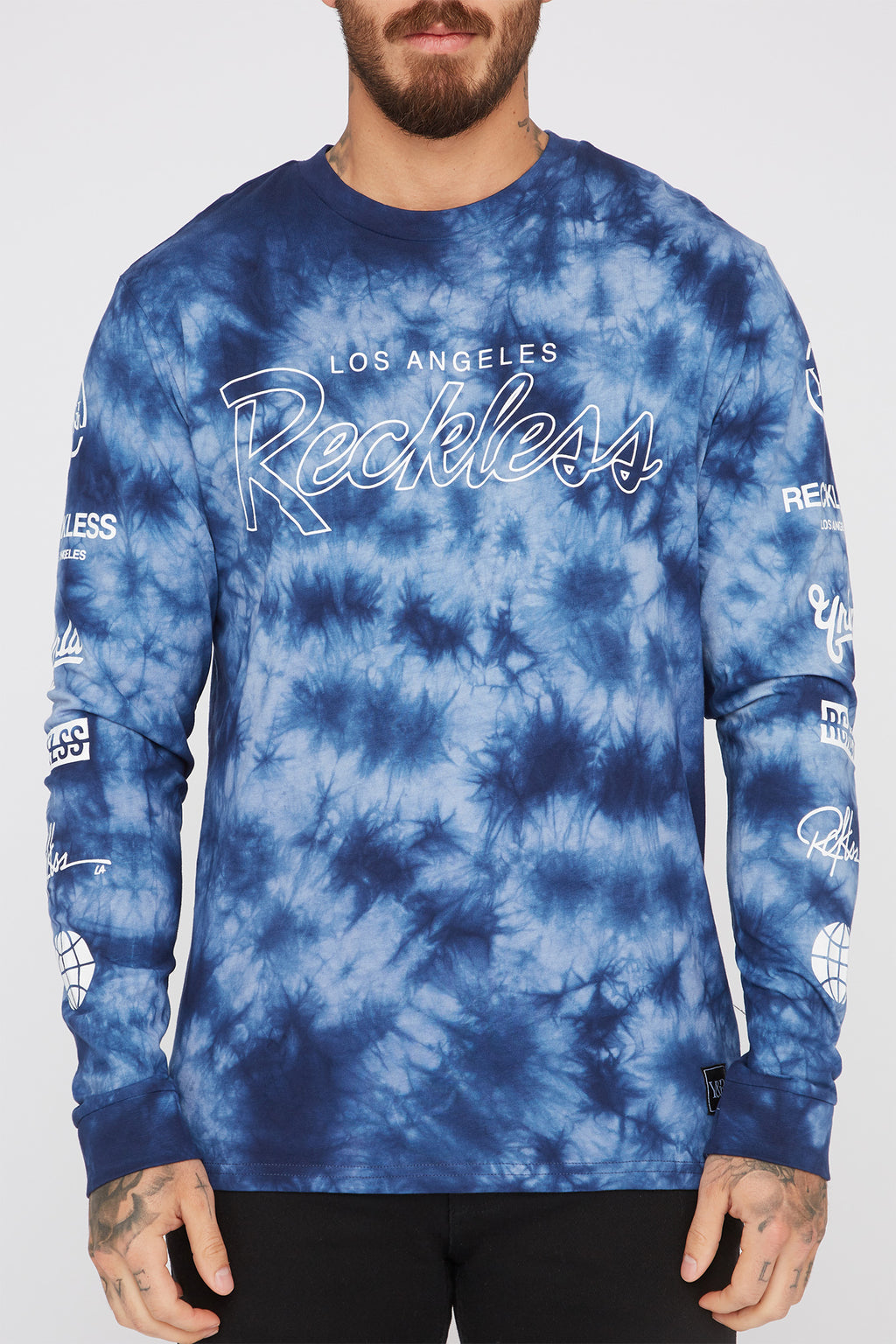 Young & Reckless Mens Tie-Dye Long Sleeve Shirt
