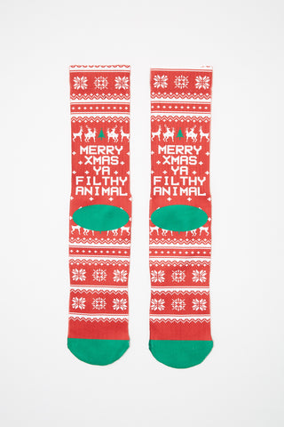 West49 Mens Xmas Crew Socks