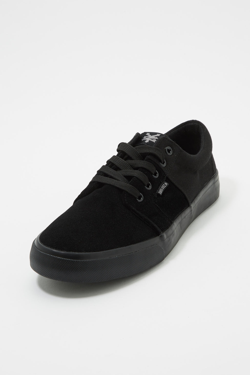 Zoo York Mens All Black Stack Lace-Up Canvas Shoes