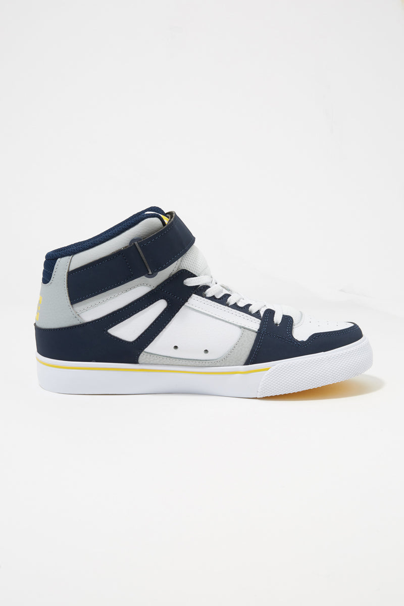 DC Youth Pure High-Top EV Navy Grey Sneakers