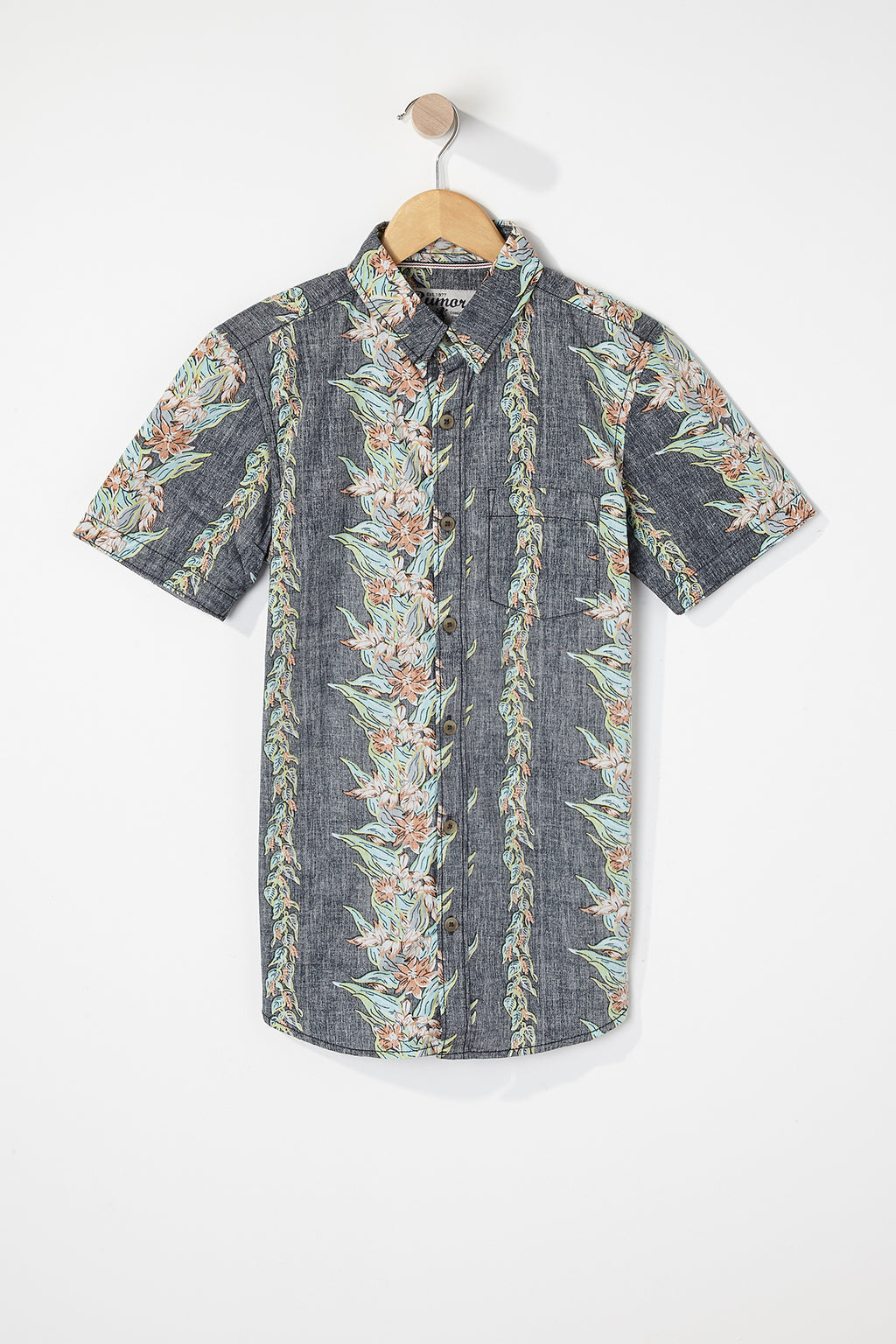 West49 Boys Floral Button Up