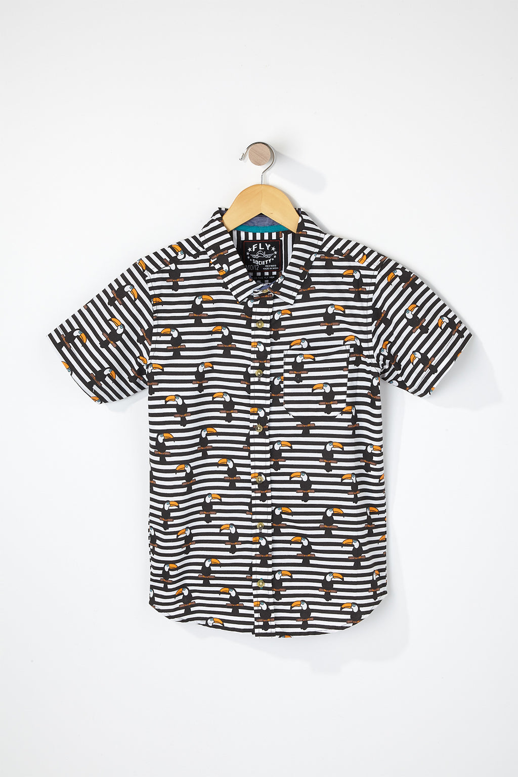West49 Boys Toucan Button Up Shirt