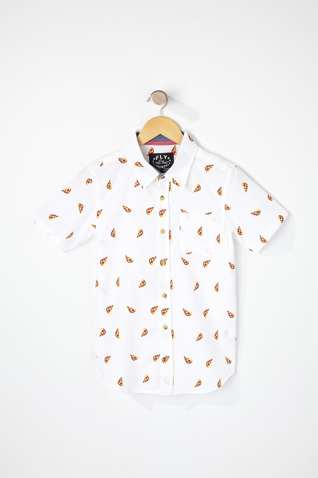 West49 Boys Pizza Button Up Shirt