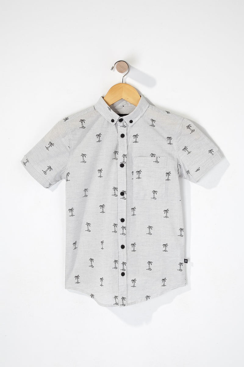 West49 Boys Palm Tree Button Up Shirt