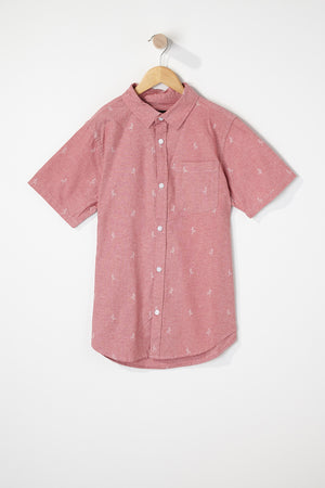 West49 Boys Ditsy Print Button Up