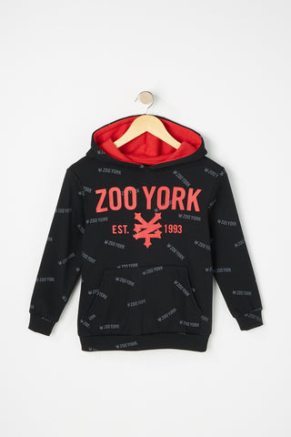 Zoo York Boys Contrast Colour Hoodie