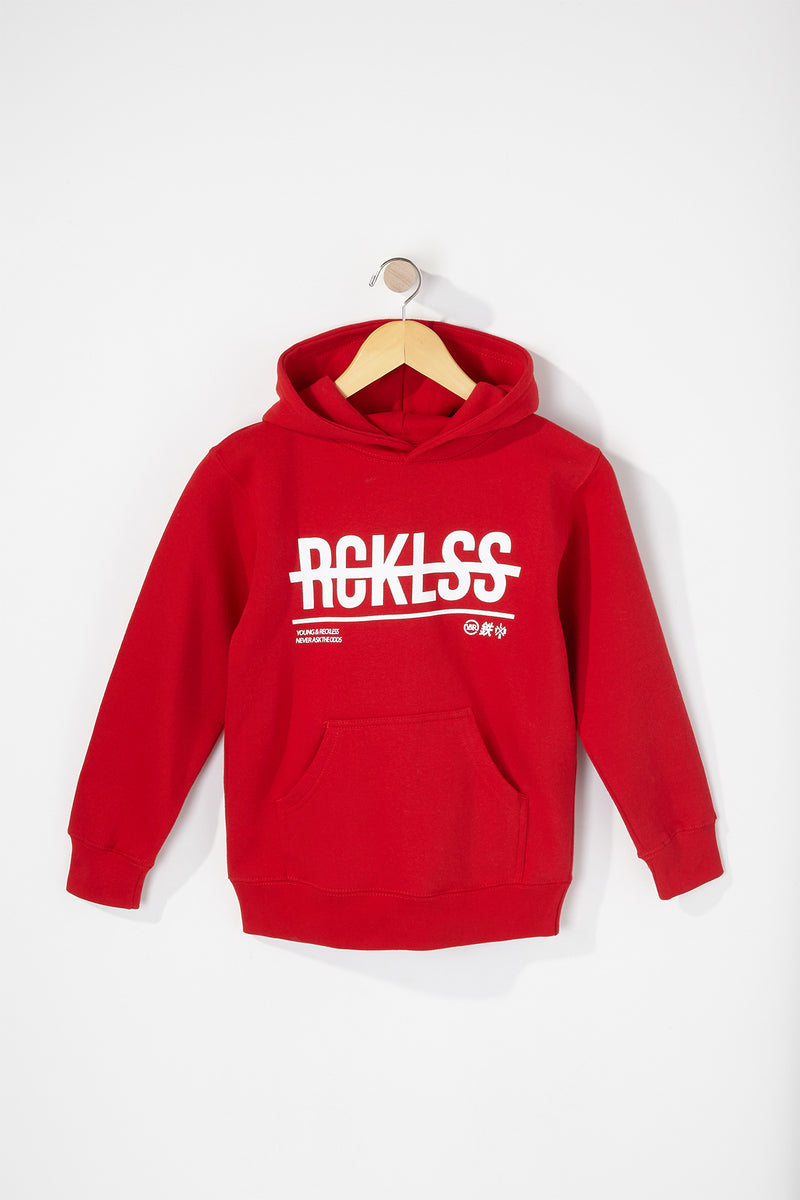 Young & Reckless Boys Strikethrough Hoodie