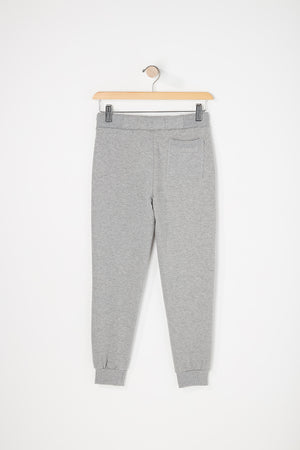 West49 Boys Solid Ribbed Pocket Jogger