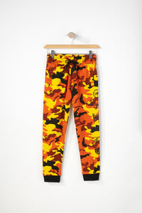 Young & Reckless Boys Orange Camo Jogger