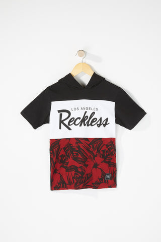Young & Reckless Boys Floral Hooded T-Shirt