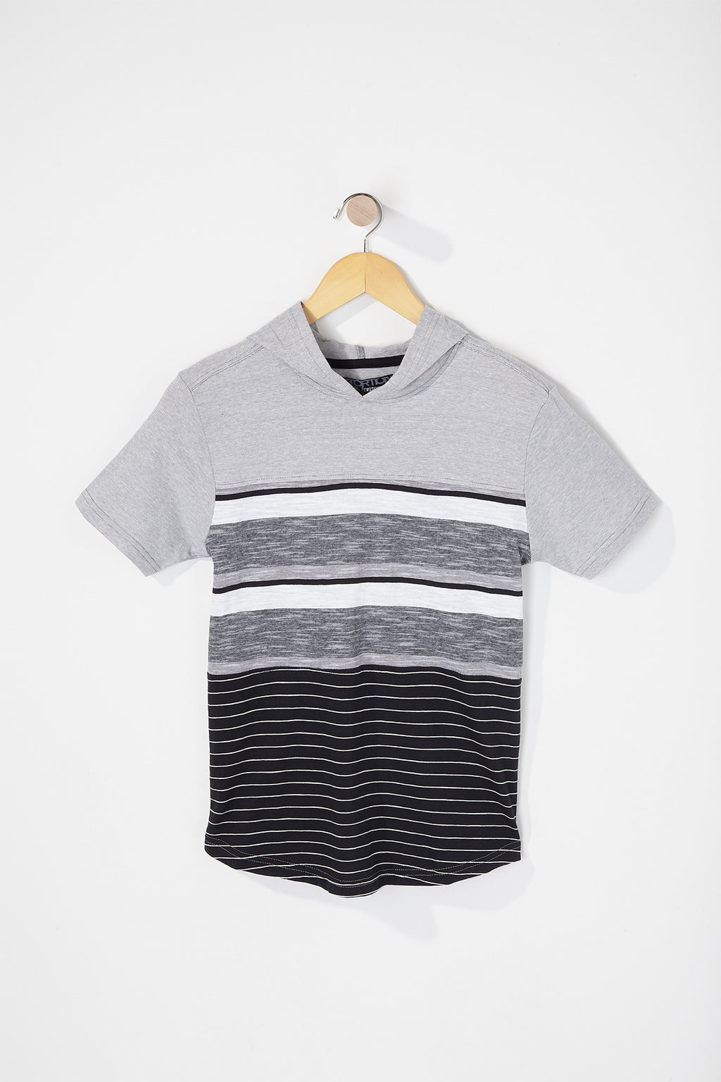 West49 Boys Hooded Striped T-Shirt