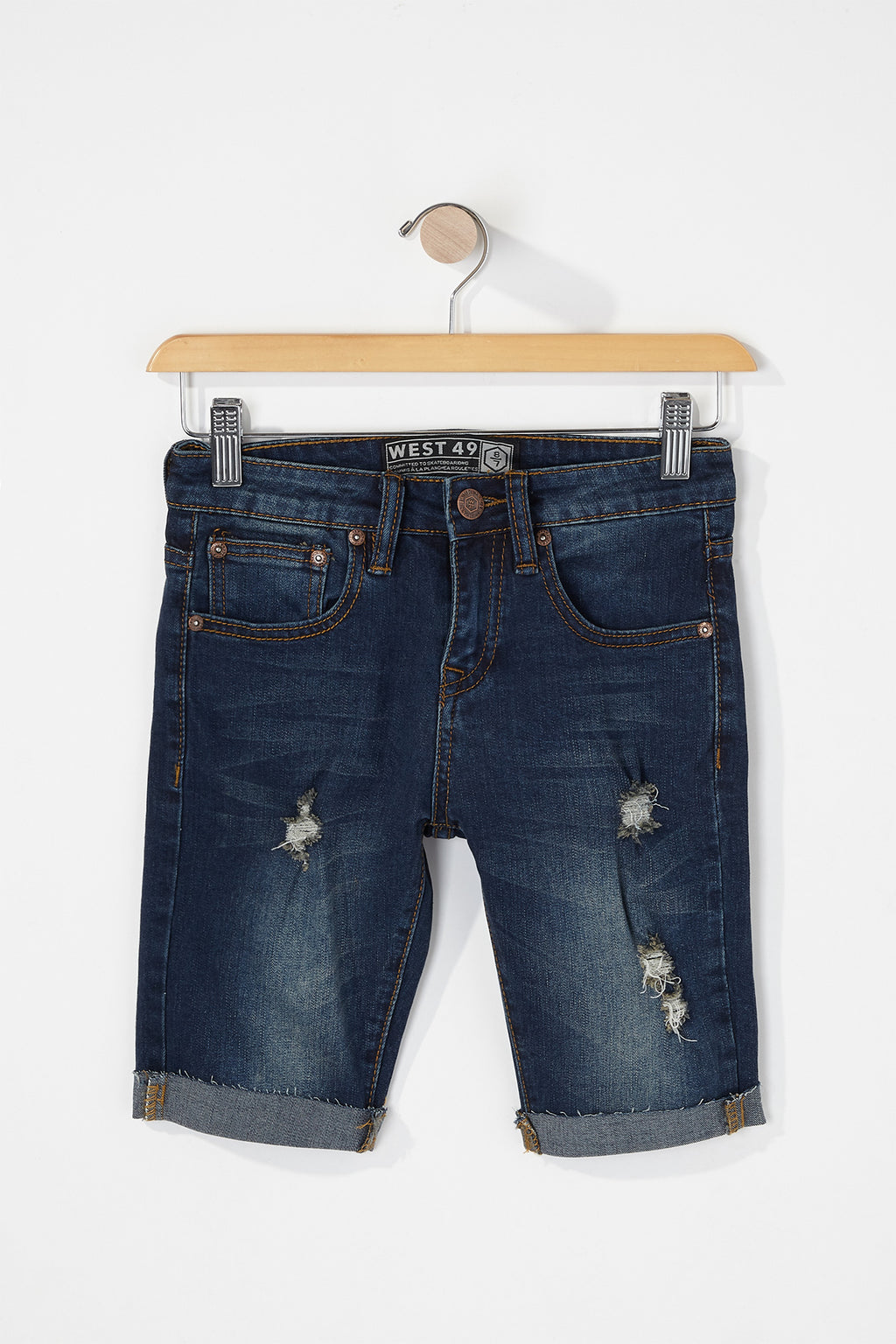 West49 Boys Destruct Denim Shorts