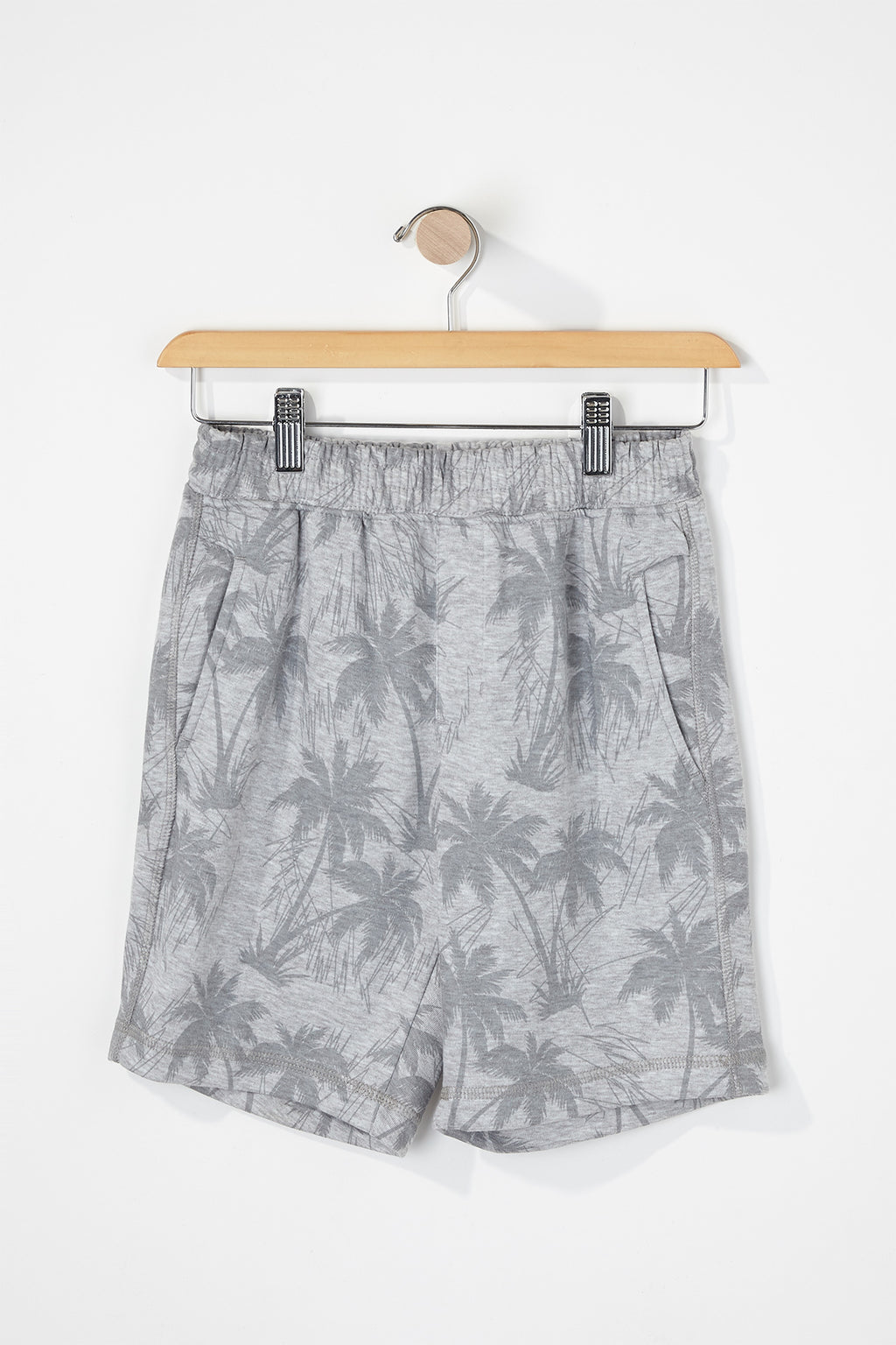 West49 Boys Palm Tree Print Jogger Shorts
