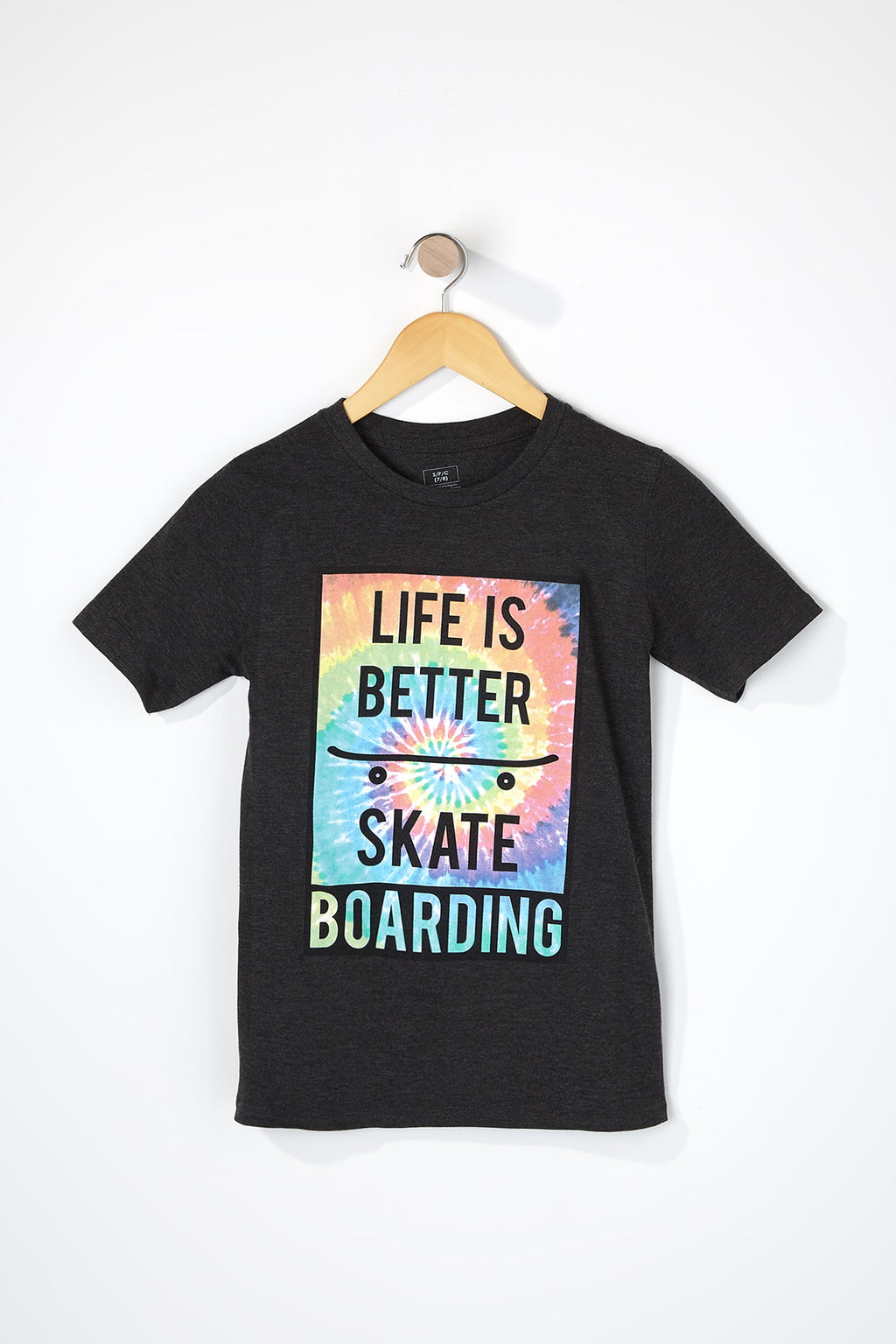 West49 Boys Tie-Dye Skateboarding Graphic T-Shirt