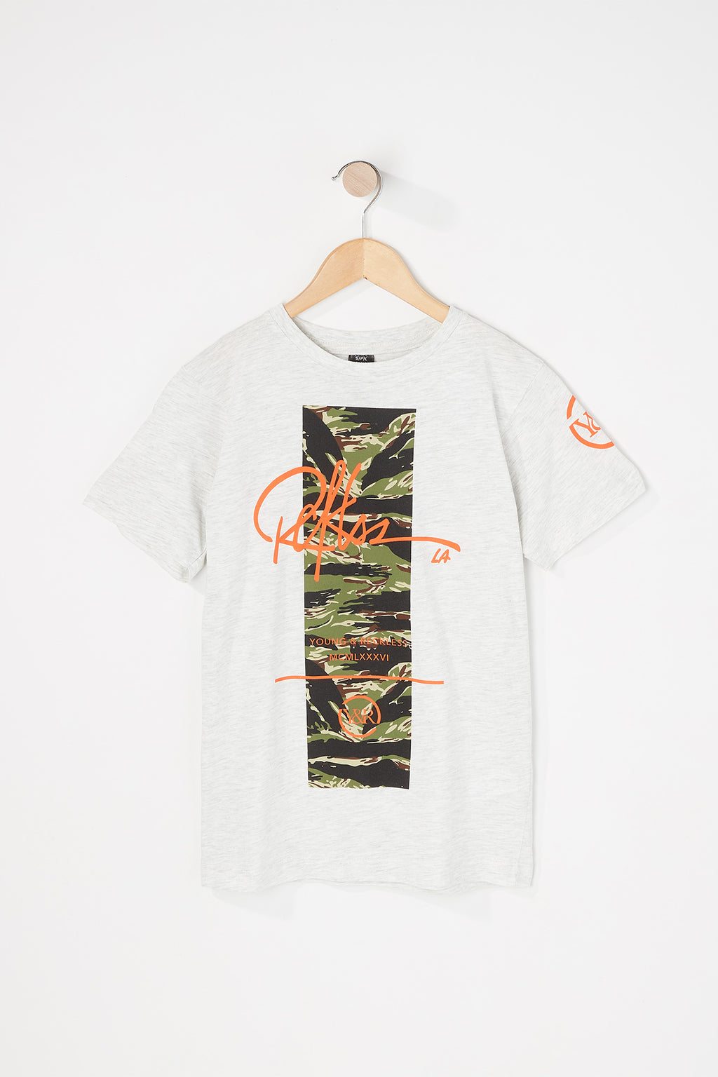 Young & Reckless Boys Camo Box T-Shirt