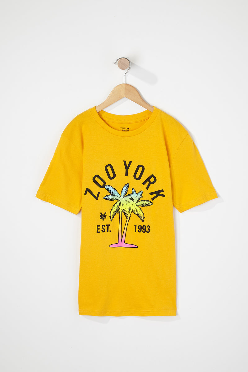 Zoo York Boys Yellow Palm Tree T-Shirt