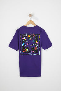 Zoo York Boys Purple Neon Back Logo T-Shirt
