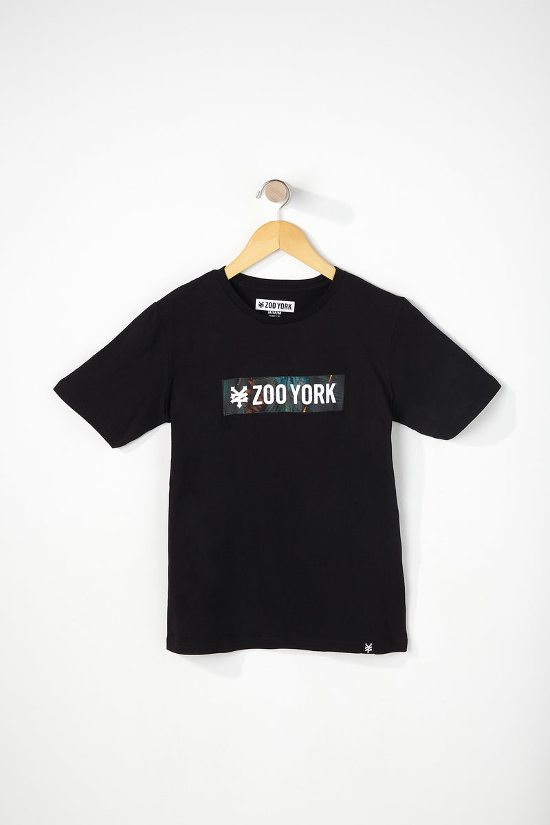 Zoo York Boys Floral Box Logo T-Shirt